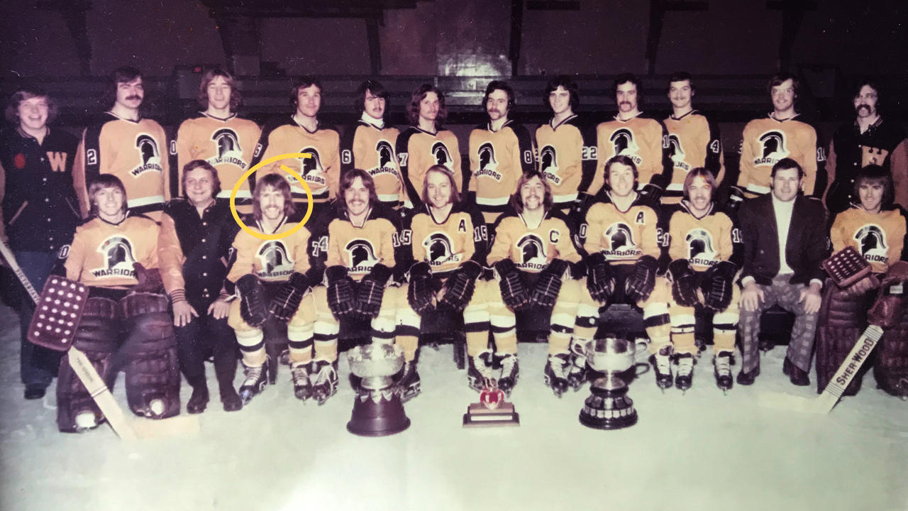 Waterloo Warriors men's hockey team, 1974.