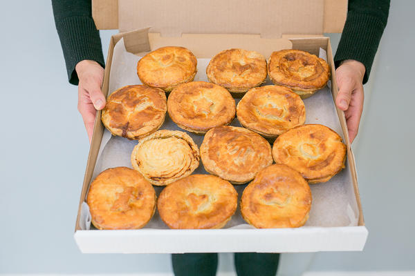 Kanga Meat Pies in a box