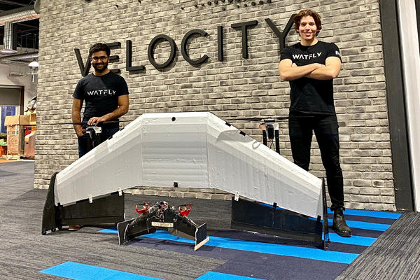 Abi and Gonzalo with their prototypes