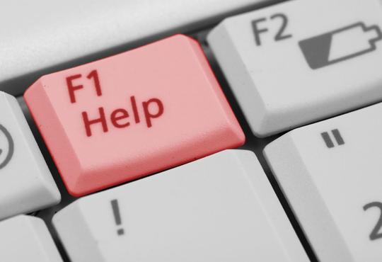 F1 help button on keyboard