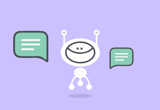 chat bot with chat bubbles