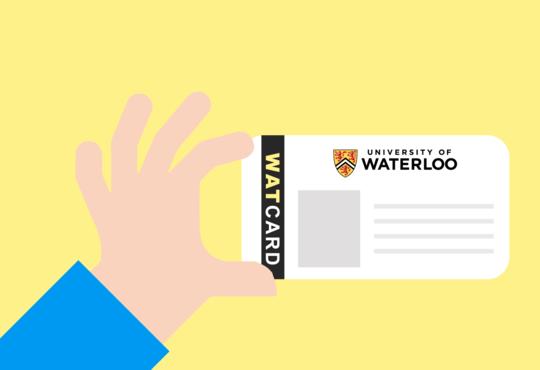 hand holding watcard