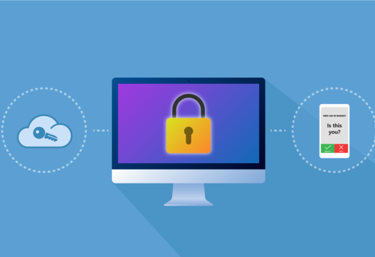 single sign on and two factor authentication illustration