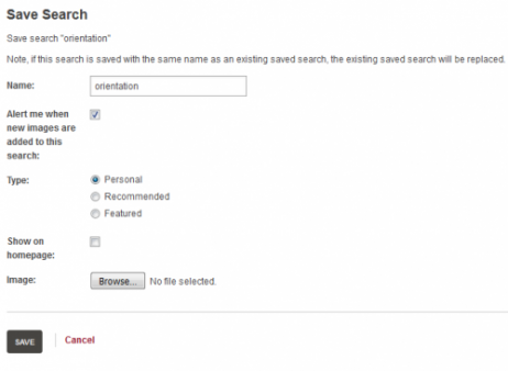 Save search page details