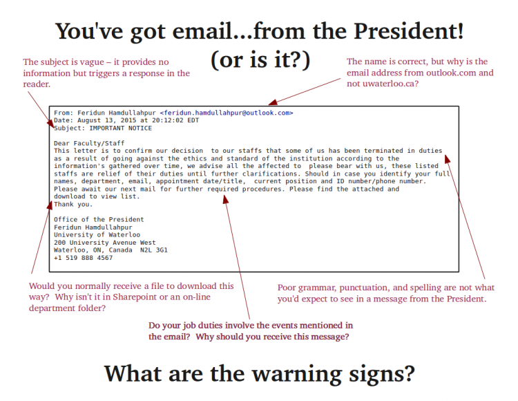 Email security poster