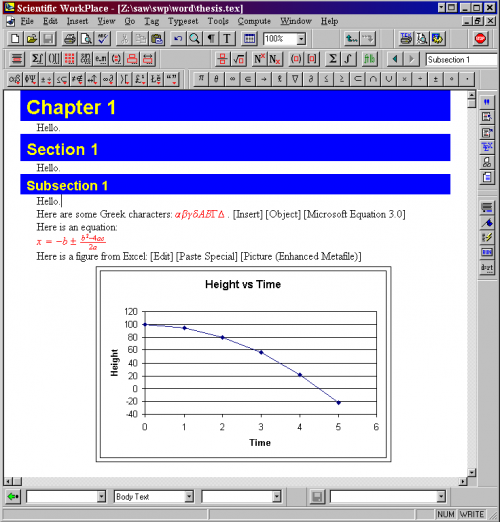 thesis tools excel