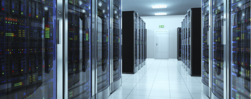 Information and Systems Technology server room.