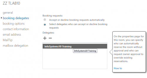 Exchange Calendar configure a room with approval required