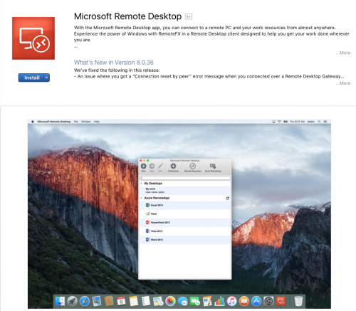 Remote desktop connection in Mac OS X | Information Systems