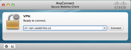 Cisco AnyConnect VPN Client screen