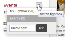 Lightbox view options