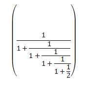 Example of a continued fraction