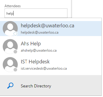 Create event - schedling assistant, adding attendees