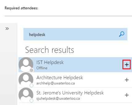 Create event - Search people