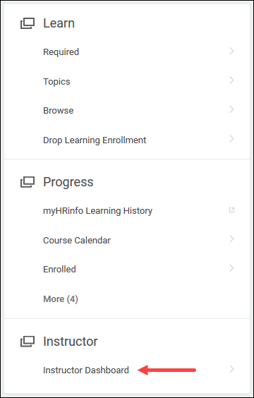 Instructor Dashboard in Workday