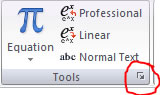 Arrow icon in Tools ribbon