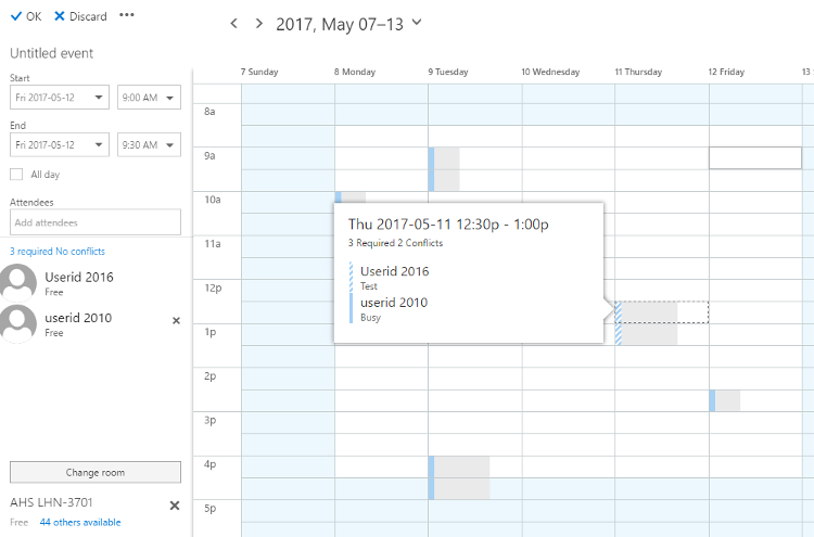 Create event - scheduling assistant