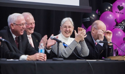 Bev Marshman laughing at the first decade panel