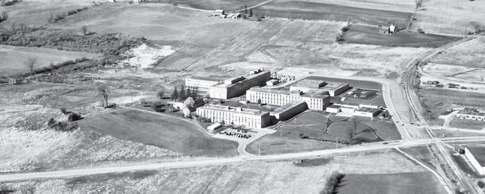 Aerial view of University of Waterloo Campus in 1961