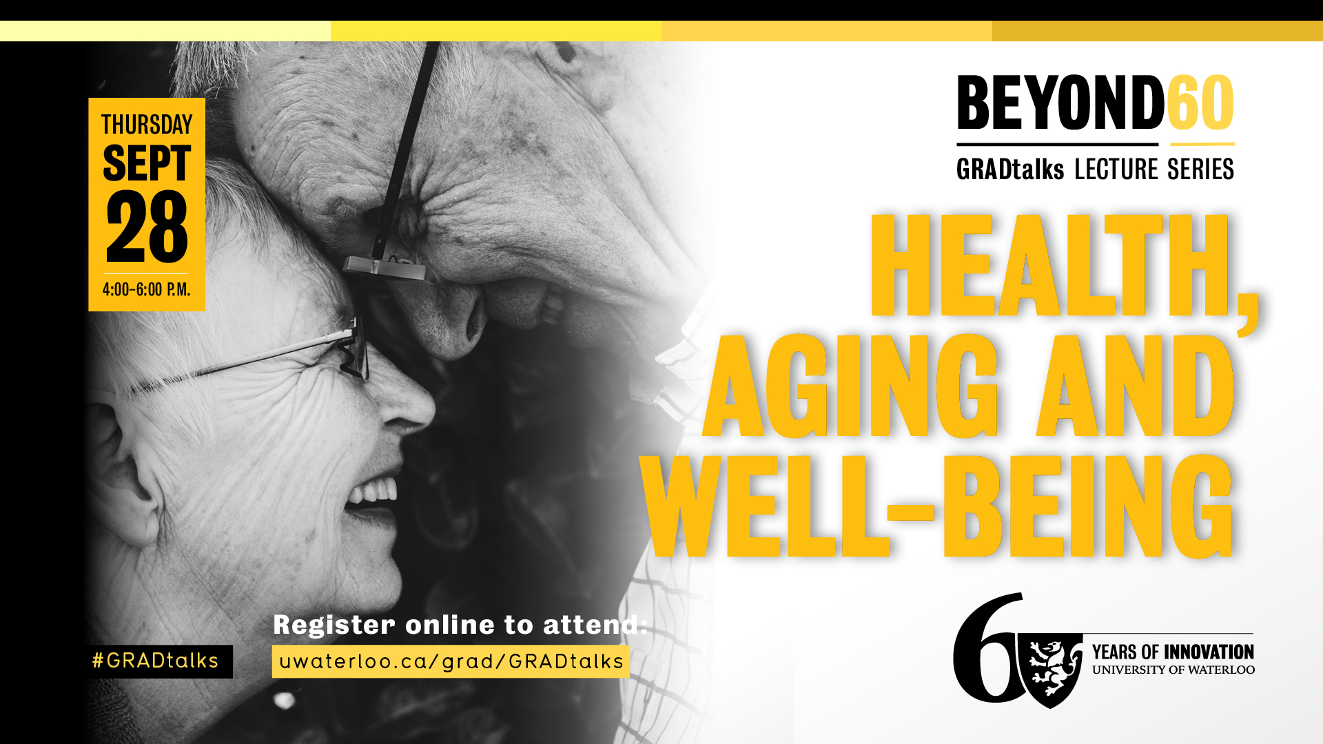 Beyond 60: GRADtalks - Health, Aging and Well-Being banner