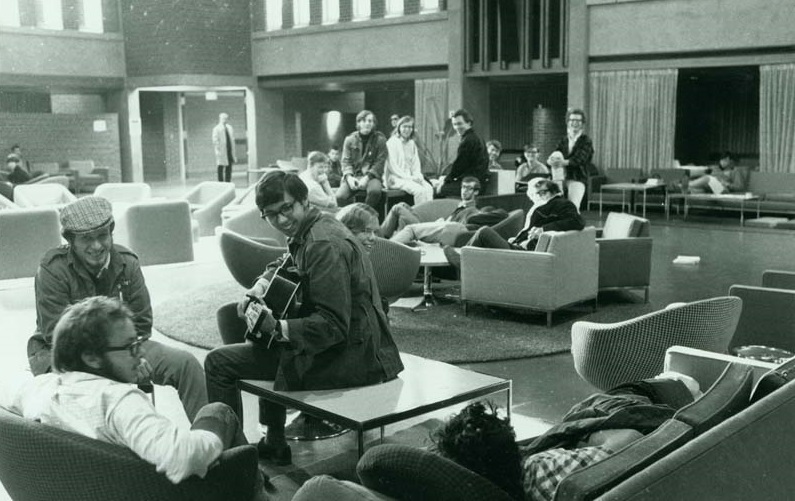 Students inside the SLC in the late 1960's