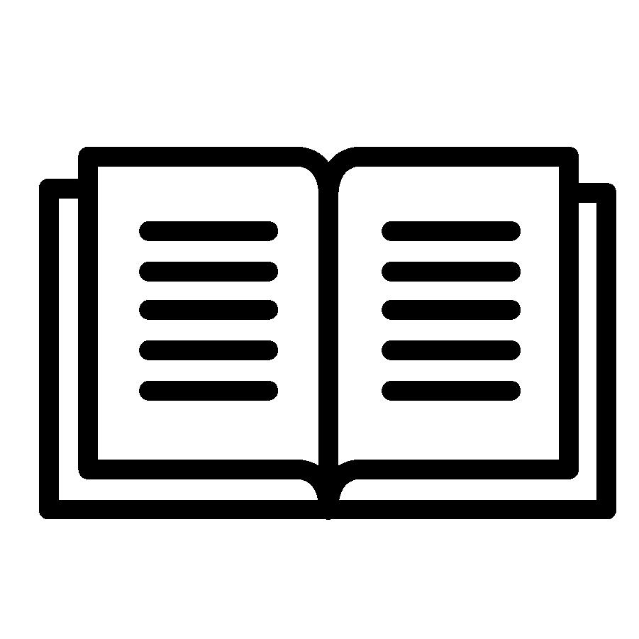 Illustration en noir et blanc d'un livre