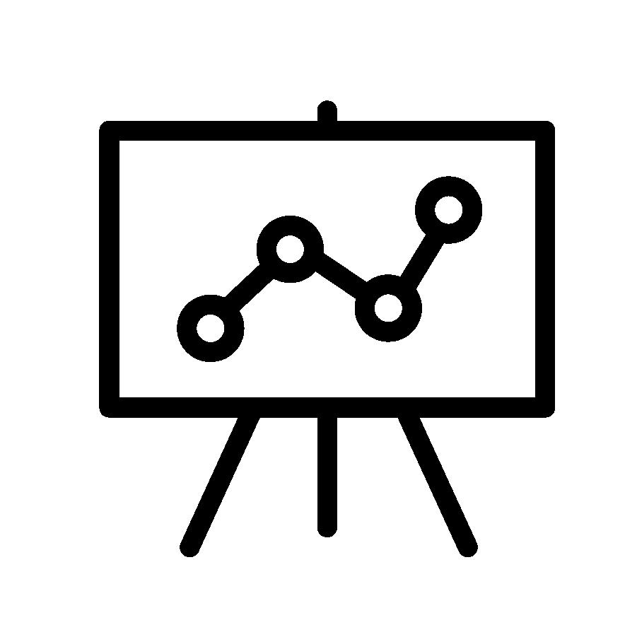 Illustration en noir et blanc d'une présentation