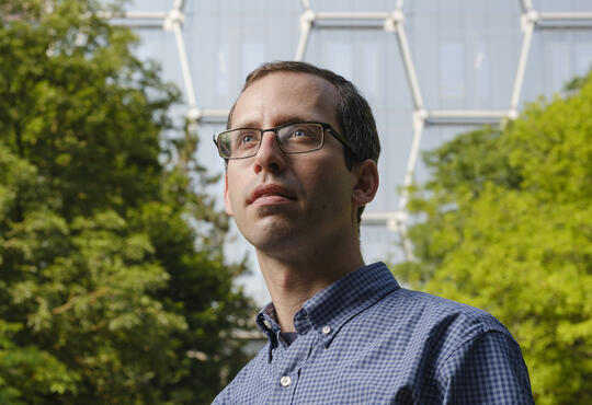 David Gosset standing outside the Quantum Nano Centre
