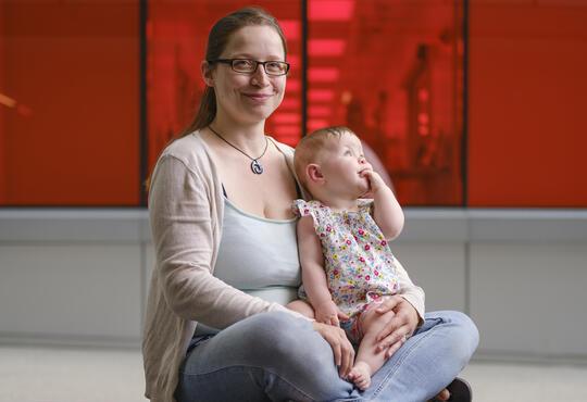 Michele Piscitelli and her daughter, Harriet