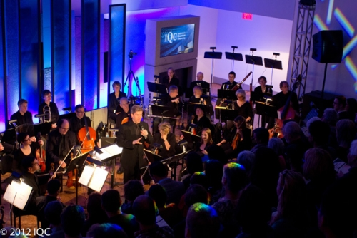 Kitchener-Waterloo Symphony performing in the Quantum-Nano Centre in 2012