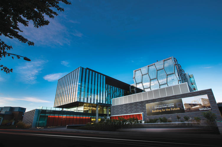 Exterior of the The Mike & Ophelia Lazaridis Quantum-Nano Centre (Lazardis Centre)