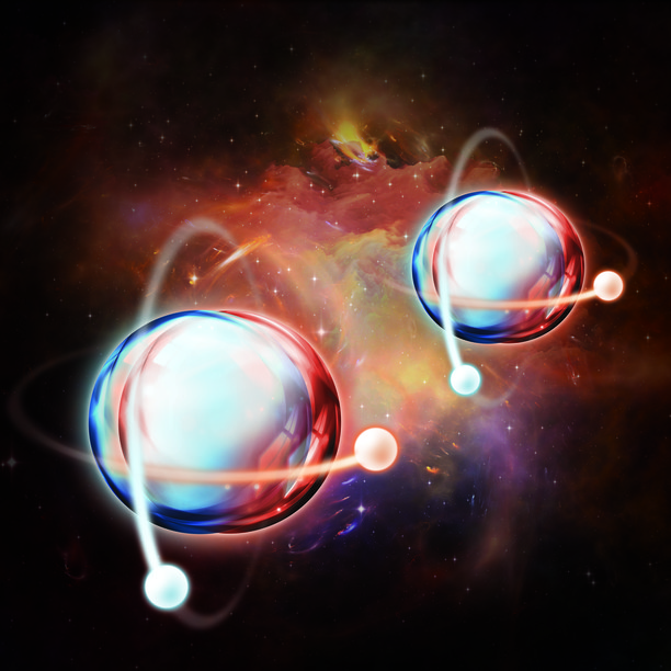 Artist's rendition of quantum entanglement