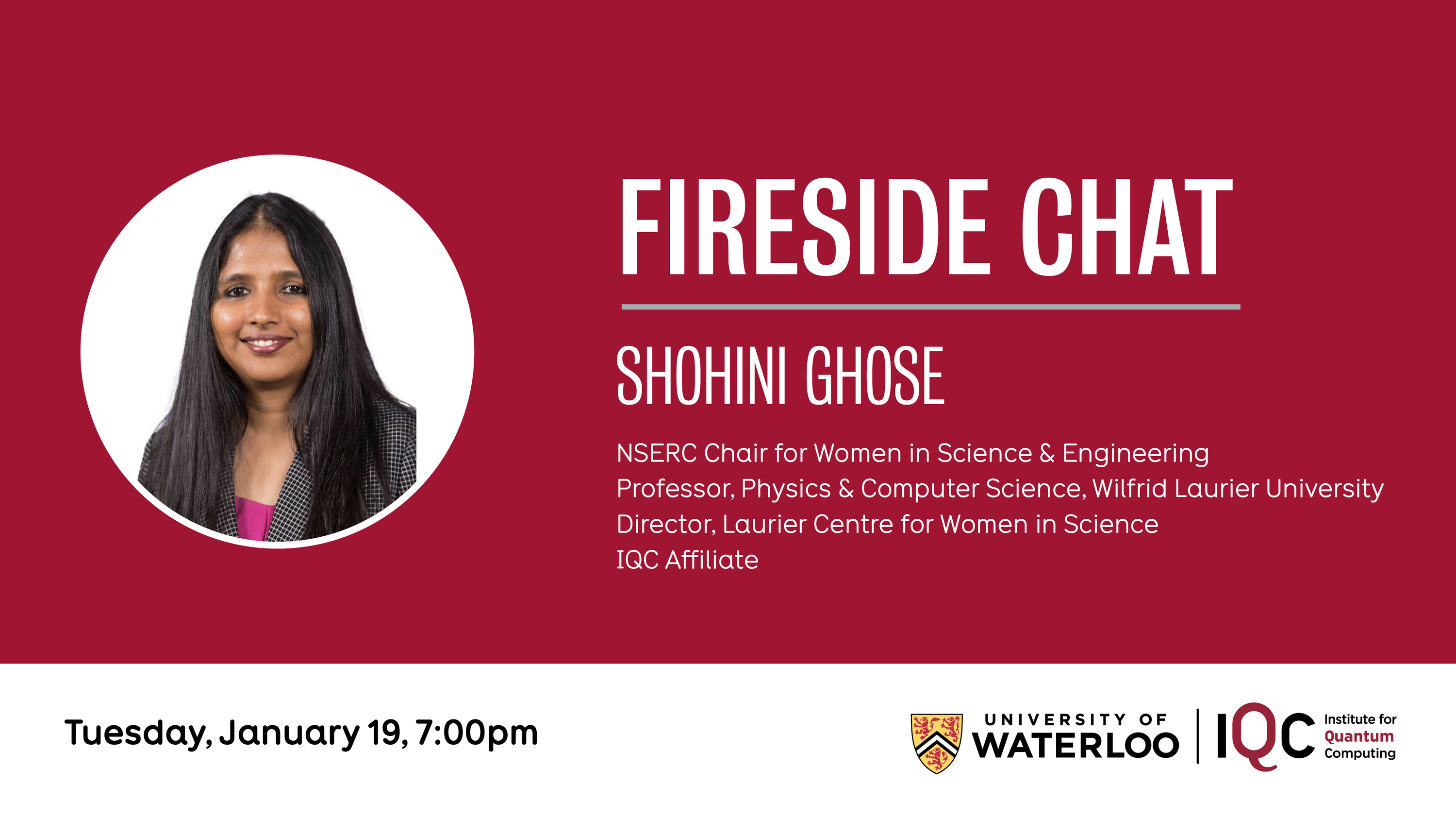 Photo of Shohini Ghose, NSERC in Women in Science and Engineering