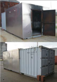 Exterior view of container test unit