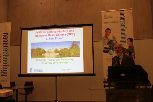 Professor Tom Foxon delivering a special lecture