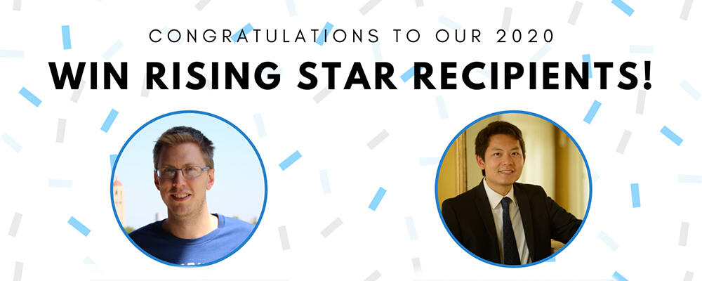 Announcement for the 2020 Rising Star Awardees