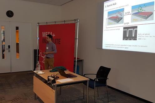 Professor Kevin Musselman presenting