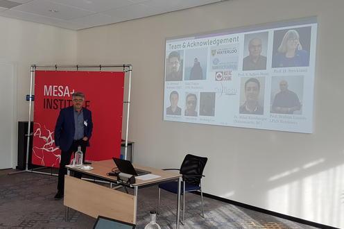 Professor Hamed Majedi presenting