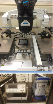 Probing Station with an LCR meter and amplifier system