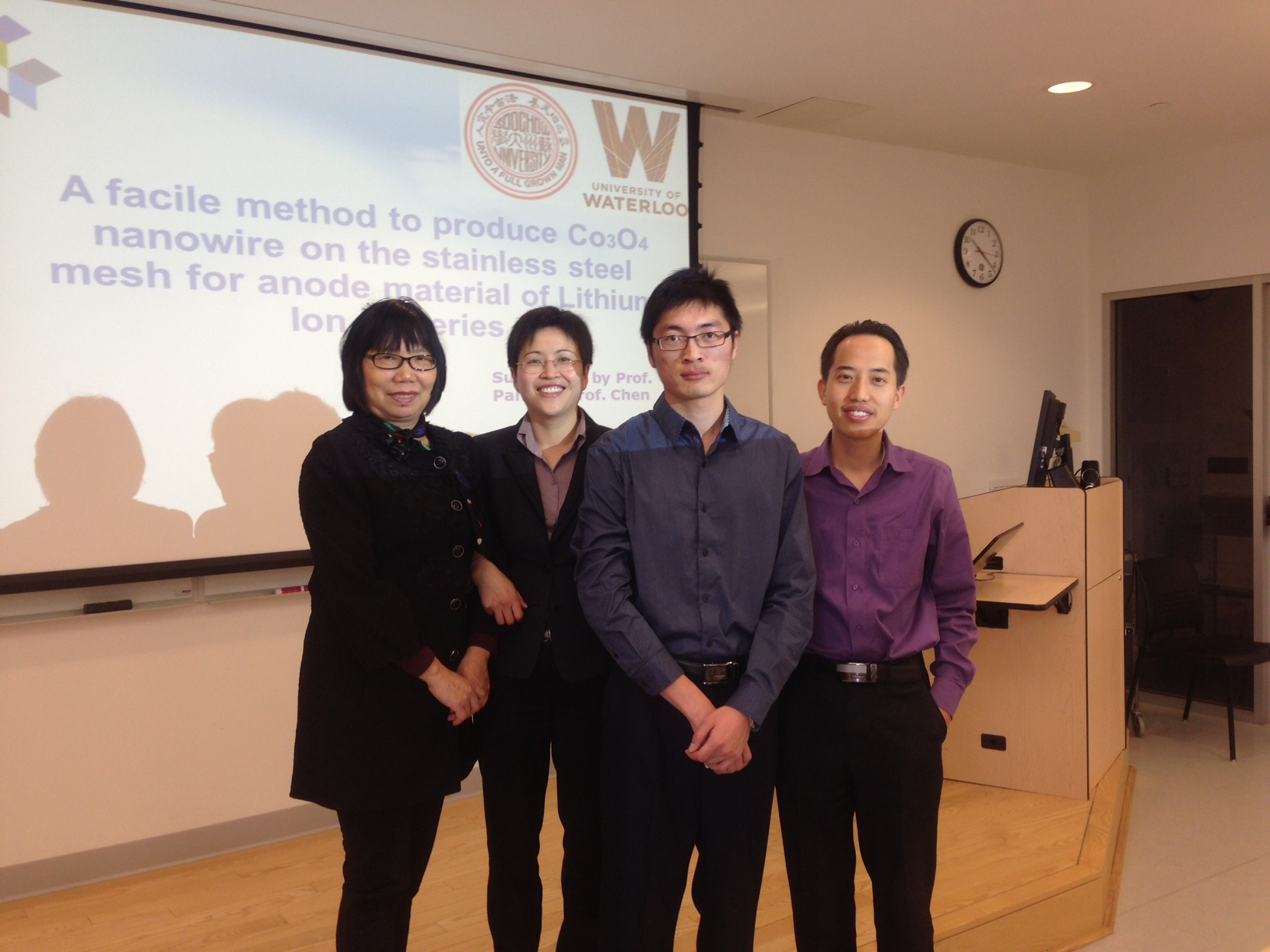 Kun Feng with Professors Pan, Yu, and Chen