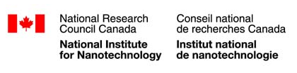 A logo of the National Research Council Canada, National Institute for Nanotechnology.