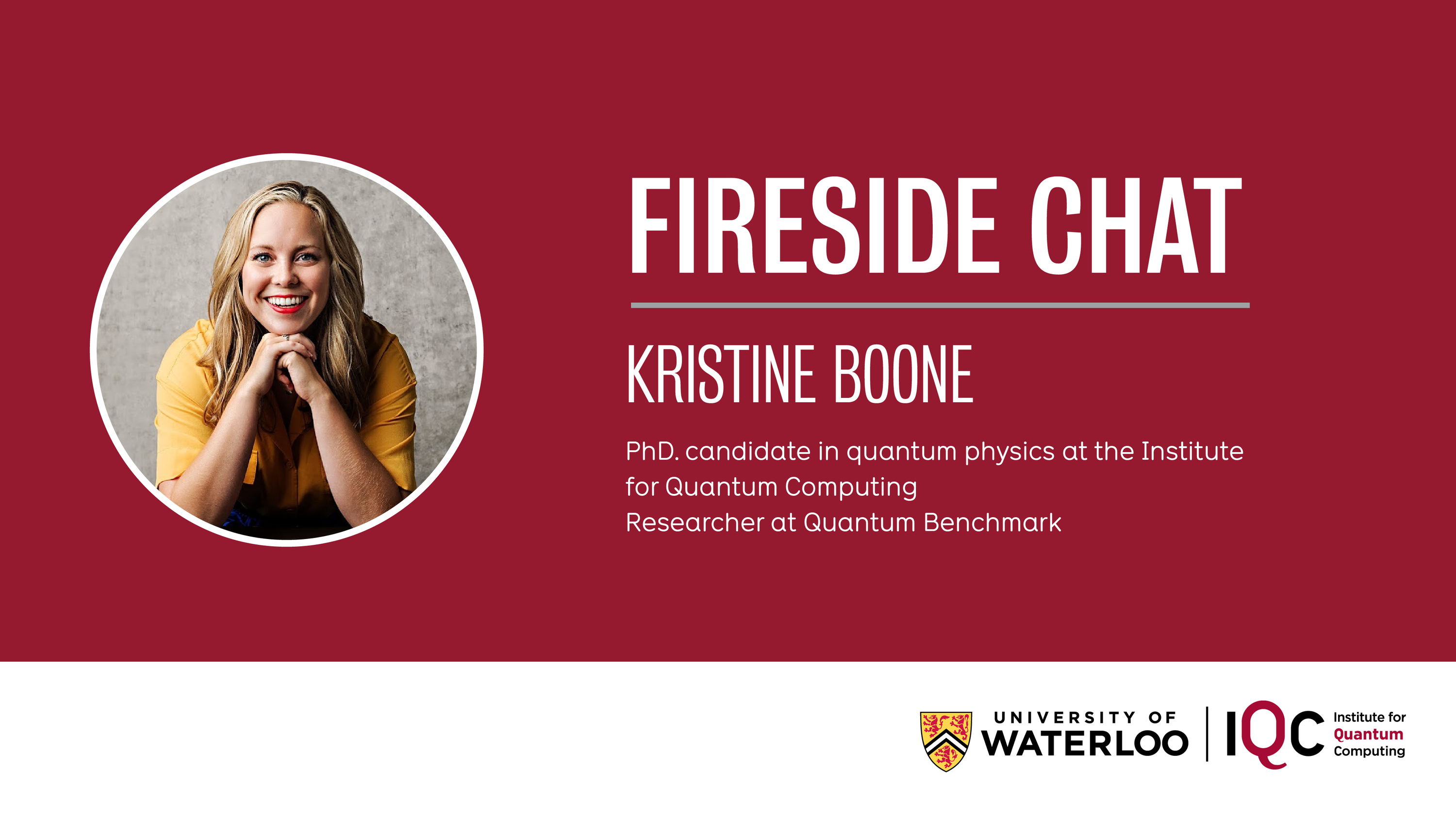 Kristine Boone, PhD candidate Fireside chat