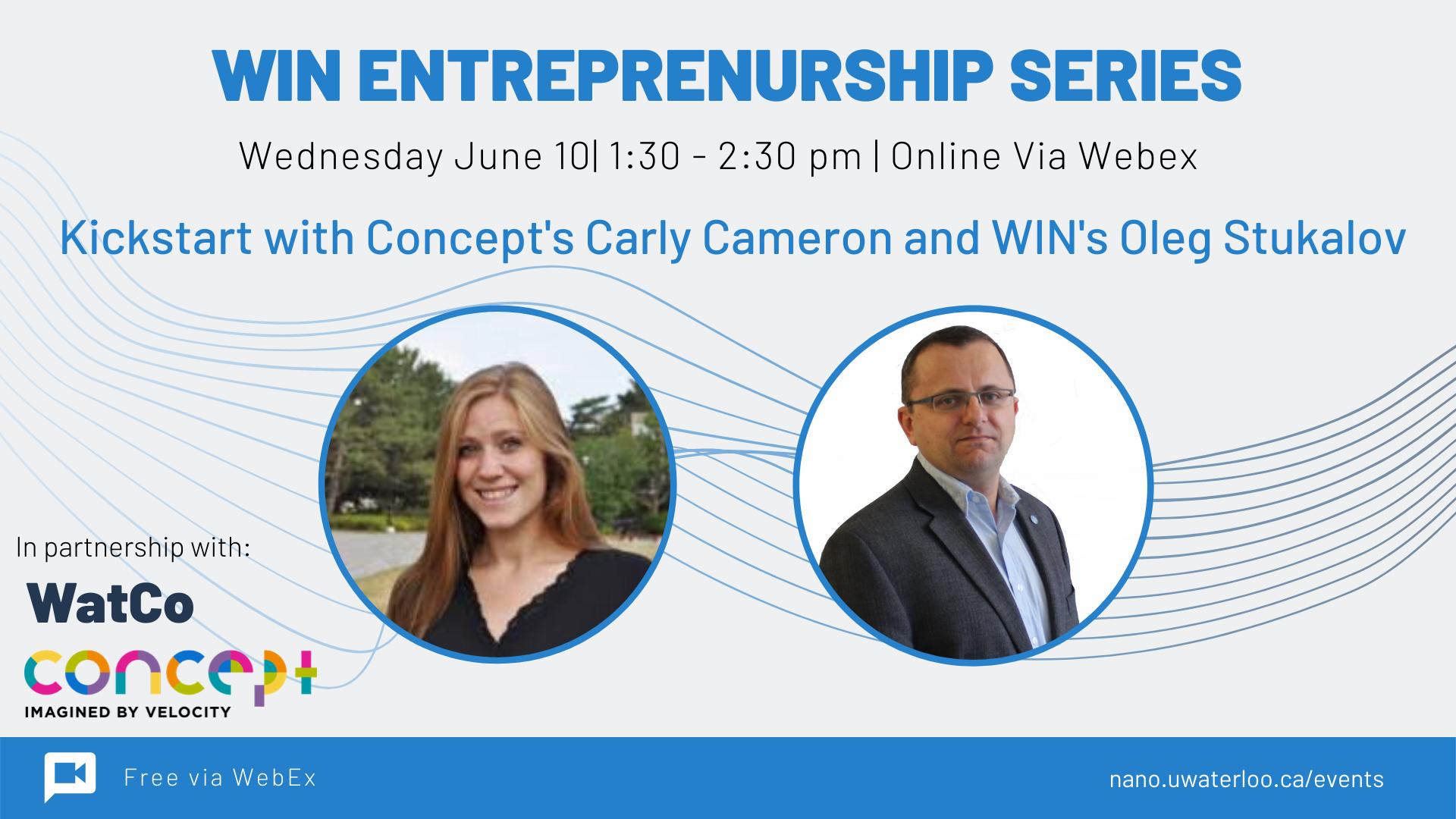 WIN Entrepreneurship Series Banner