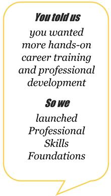 you told us you wanted more hands-on career training and professional development, so we launched professional skills foundations