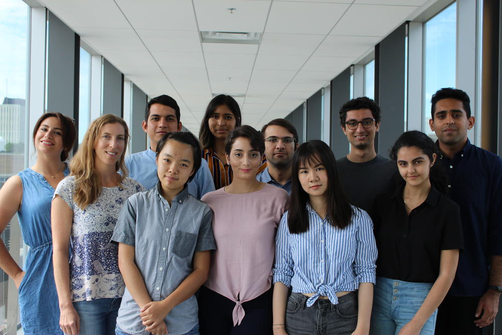 ITWIL lab members gathering on Engineering 5 for a group photo in summer 2019