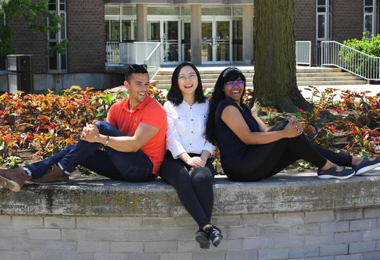 Waterloo students Kealan, Limei and Shreena.