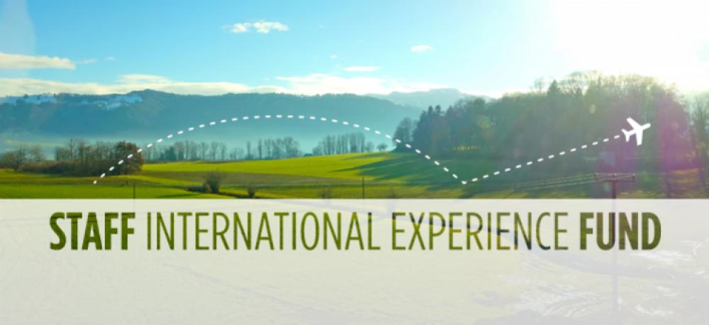 Staff International Experience Fund banner.