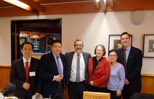 Delegates from Shenzhen Tsinghua with Waterloo partners.