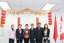 Soochow University Guests pose for a photo