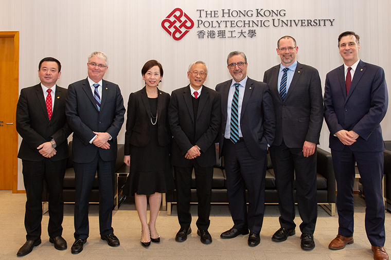 Delegates from Hong Kong Polytechnic University